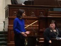 Valerie Van Peel stelt vraag aan minister De Block