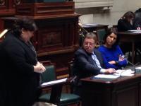 Minister De Block beantwoordt de vraag van Valerie